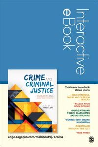Crime and Criminal Justice Interactive Ebook Passcode