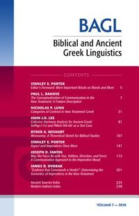 Biblical and Ancient Greek Linguistics 2018
