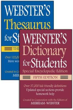 Webster S Dictionary For Students 5th Ed Webster S Thesaurus For Students 3rd Ed By Merriam Webster Crt
