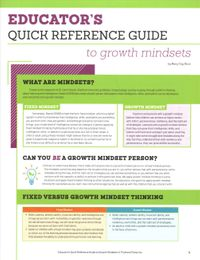 Educator's Quick Reference Guide to Growth Mindsets