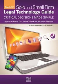 The Solo and Small Firm Legal Technology Guide 2014