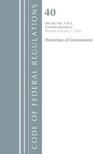 Code of Federal Regulations, Title 40 Protection of the Environment 60 Appendices,