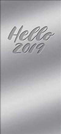 Hello Mirrored Platinum Leatheresque 17-Month 2018-2019 Jotter Agenda
