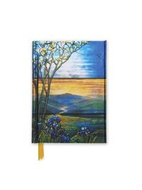 Tiffany Leaded Landscape With Magnolia Tree Foiled Pocket Journal