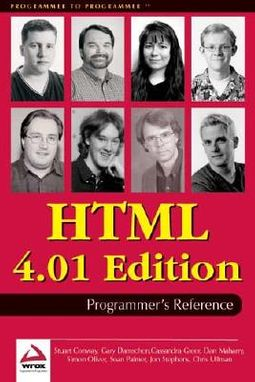 Html 4.01 Programmers Reference