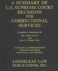 A Summary of U.S. Supreme Court Decisions for Correctional Services