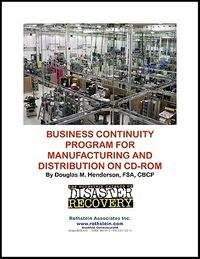 Business Continuity Program for Manufacturing and Distribution