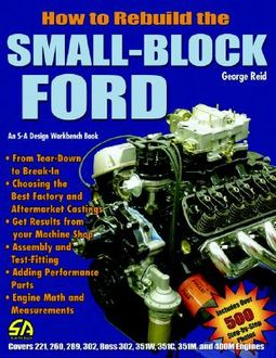 FORD ENGINE REBUILD MANUAL 302 351 289 HOW TO REID BOOK SHOP REPAIR