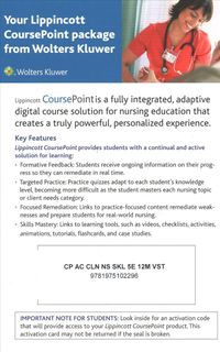Lippincott Coursepoint for Taylor's Clinical Nursing Skills Passcode