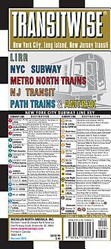 Michelin Transitwise New York, Long Island, New Jersey Transit Map