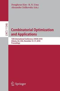 Combinatorial Optimization and Applications