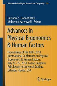 Advances in Physical Ergonomics & Human Factors