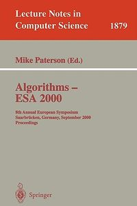 Algorithms - Esa 2000
