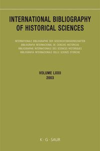 International Bibliography Of Historical Sciences 2003