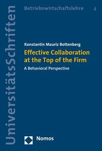 Effective Collaboration at the Top of the Firm