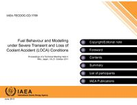 Fuel Behaviour and Modelling Under Severe Transient and Loss of Coolant Accident Loca Conditions
